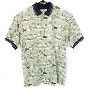 BOCA CLASSICS Lighthouse Palm Trees Polo Shirt